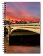 London Sunset Spiral Notebook