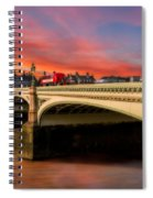 London Sunset Spiral Notebook