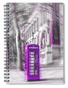 London Telephone Purple Spiral Notebook