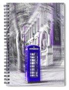 London Telephone Purple Blue Spiral Notebook