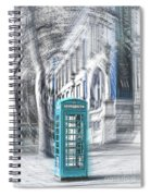 London Telephone Turquoise Spiral Notebook