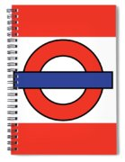 London Underground Blank Spiral Notebook