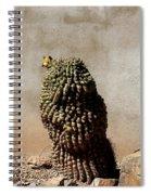 Lone Cactus In Sepia Tone Spiral Notebook