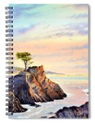 Lone Cypress Tree Pebble Beach Spiral Notebook