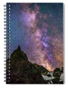 Lone Eagle Peak Dancing In The Milky Way Spiral Notebook
