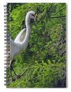 Lone Egret Spiral Notebook