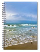 Lone Fishing Pole Spiral Notebook