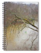 Lone Paddler On The Potomac Spiral Notebook
