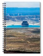 Lone Rock In Lake Powell Utah Spiral Notebook