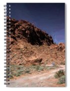Lone Rock Road Overton Nevada  Spiral Notebook