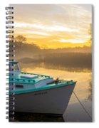 Lone Shark At Dawn Spiral Notebook