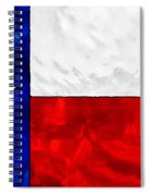 Lone Star Stained Glass Spiral Notebook