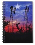 Lone Star Sunset Spiral Notebook