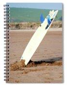 Lone Surfboard Spiral Notebook