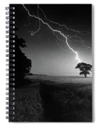 Lone Tree And Lightning Spiral Notebook