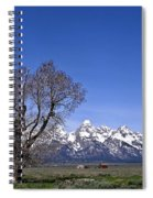 Lone Tree At Tetons Spiral Notebook