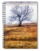 Lone Tree On Hill In Winter Spiral Notebook