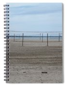 Lonely Beach Volleyball Spiral Notebook