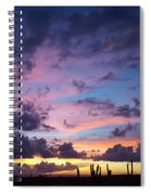 Cacti Sunset Spiral Notebook