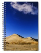 Lonely Cloud Over Sand Dunes At Bruneau Dunes State Park Idaho Usa Spiral Notebook