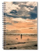 Lonely Couple  Spiral Notebook