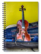 Lonely Fiddle Spiral Notebook