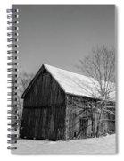 Lonely Grey Barn Spiral Notebook