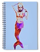 Lonely Little Mermaid Blue Spiral Notebook
