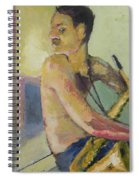 Lonely Saxophone Spiral Notebook
