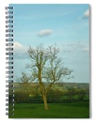 Lonely Tree Cotswold England Spiral Notebook