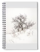 Lonely Tree On A Hill Spiral Notebook