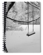 Lonely Winter Swing Ipswich Ma Spiral Notebook
