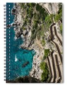 Long And Twisted Walk To The Shore - Azure Magic Of Capri Spiral Notebook