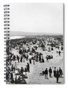 Long Beach California And Bath House C. 1902 Spiral Notebook