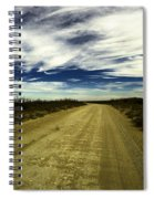 Long Dusty Road In Jal New Mexico  Spiral Notebook