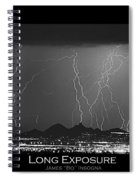 Long Exposure - Bw Poster Spiral Notebook