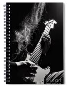 Long Hair Man Playing Guitar Spiral Notebook