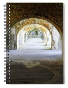 Long Hall At Fort Pickens Spiral Notebook