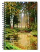 Long Indian Summer In The Woods Spiral Notebook
