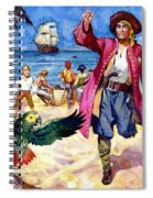 Long John Silver And His Parrot Spiral Notebook