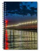 Long Lights At Grand Haven Pier Spiral Notebook