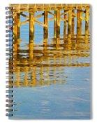 Long Wooden Pier Reflections Spiral Notebook