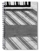 Long Shadow Of Metal Gate Spiral Notebook