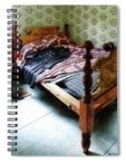 Long Sleeved Dress On Bed Spiral Notebook
