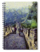 Long Slope Of The Great Wall Of China Spiral Notebook
