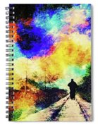 Long Twin Silver Lines Spiral Notebook
