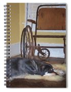 Long Wait - Dog - Wheelchair Spiral Notebook