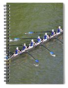 Longboat - Rowing On The Schuylkill River Spiral Notebook