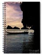 Longboat Sunset Spiral Notebook