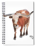 Longhorn 17 Big Daddy Watercolor Painting By Kmcelwaine Spiral Notebook